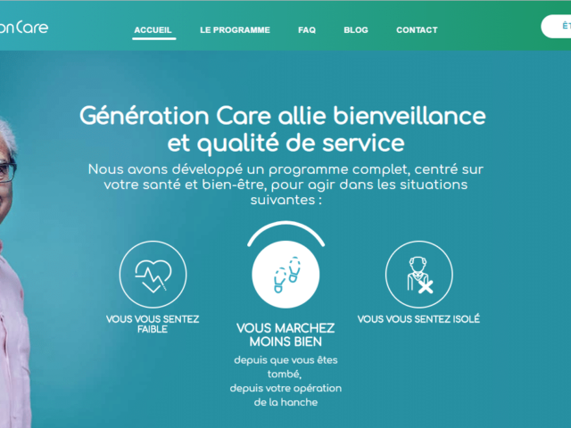Un nouveau site pour Génération Care