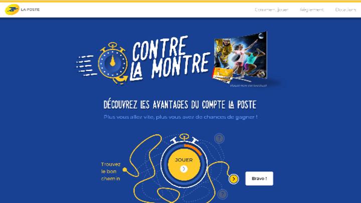 """Le jeu """"Contre La Montre"""" du Groupe La Poste"""