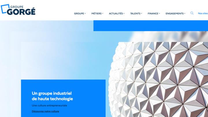 Refonte du site institutionnel du Groupe Gorgé, leader industriel de haute technologie